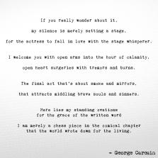 Stage whisperer